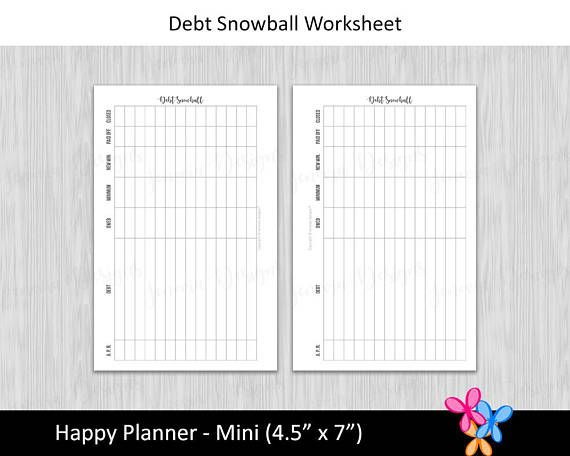 HP Mini Debt Snowball Worksheet \u2022 Budget Binder Printable Page