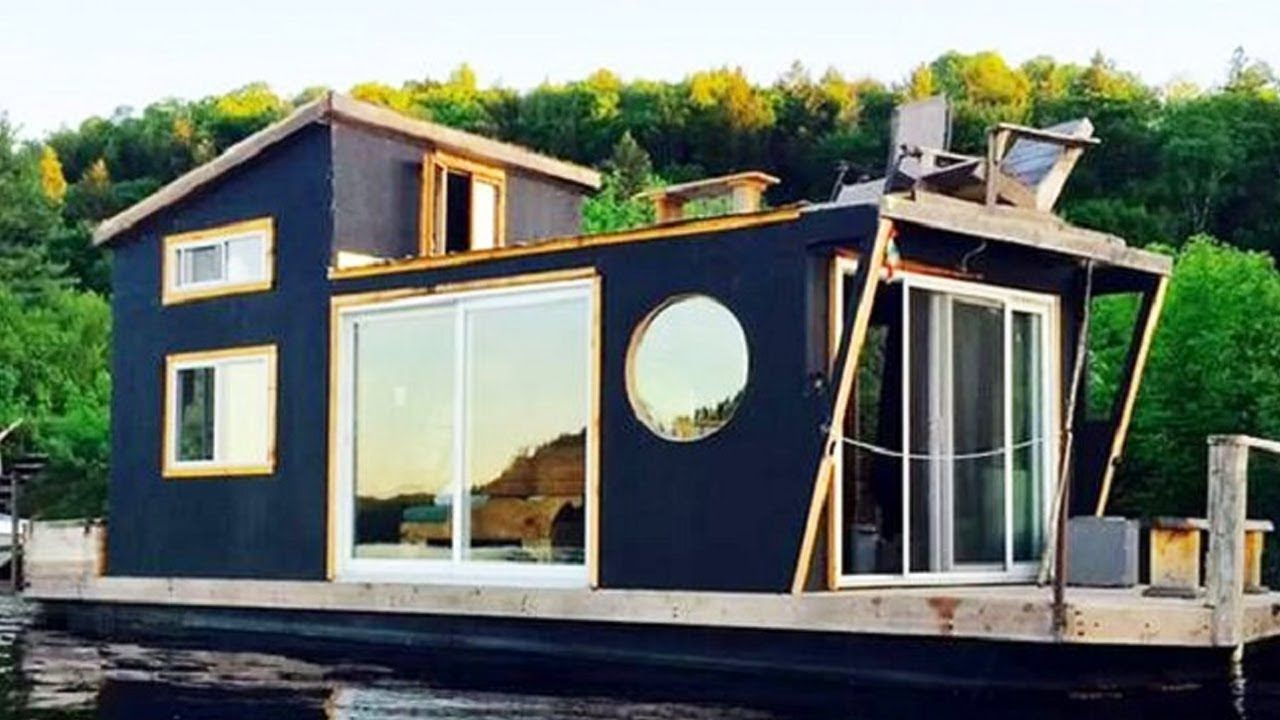 Gorgeous Tiny House Boat Very Tiny But It Has Everything