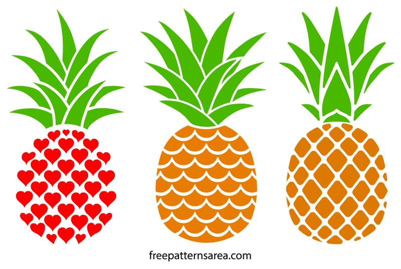 Download Printable Free Pineapple Silhouette Vectors | Pineapple ...