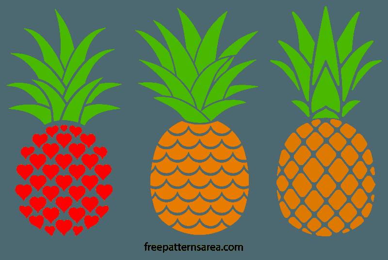 Download Printable Free Pineapple Silhouette Vectors | Pineapple ...