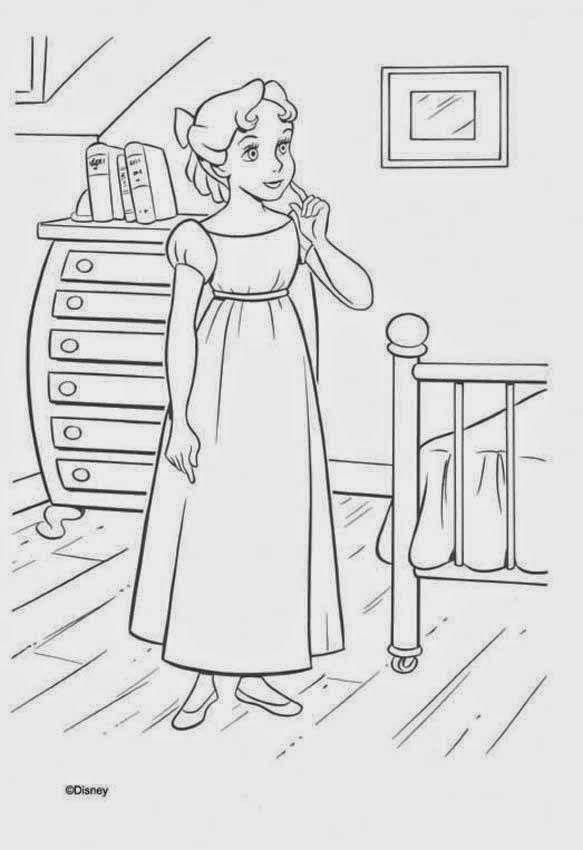 Cuentos infantiles: Peter Pan para colorear. Dibujos para imprimir ...