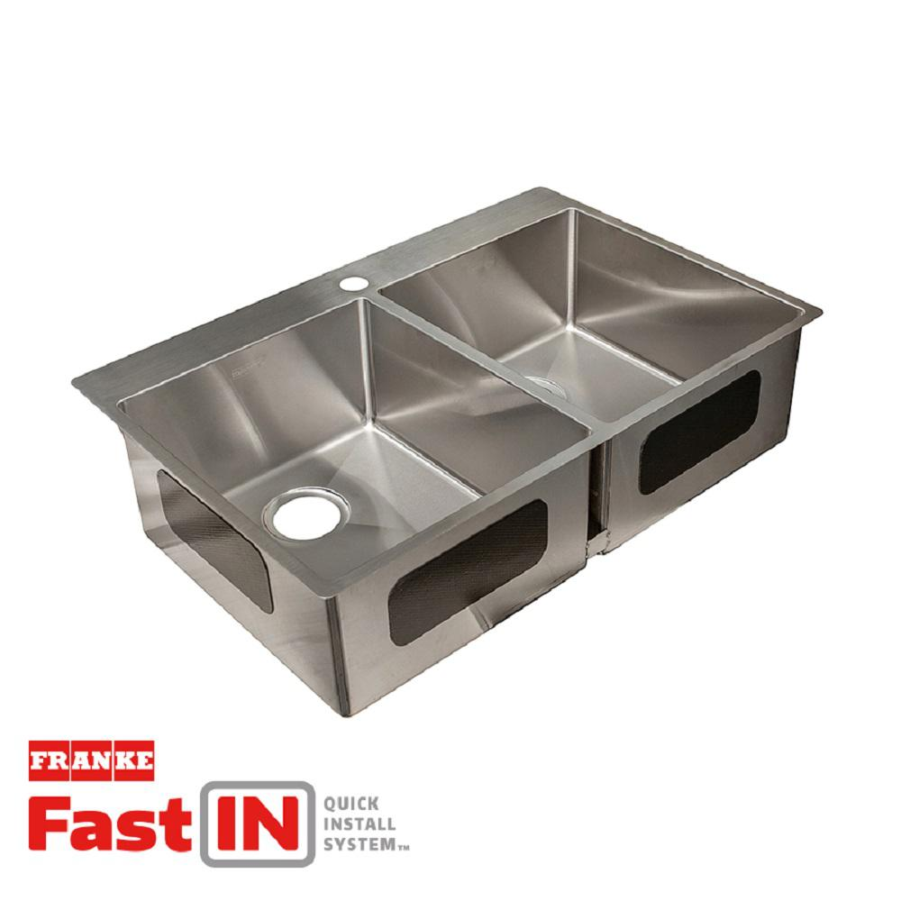 Franke Vector 9 In Deep Dual Mount Stainless Steel 33 5 In 1