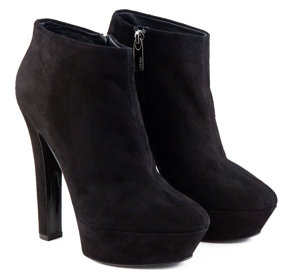 high heel black leather ankle boots | Stuff to Buy | Pinterest ...
