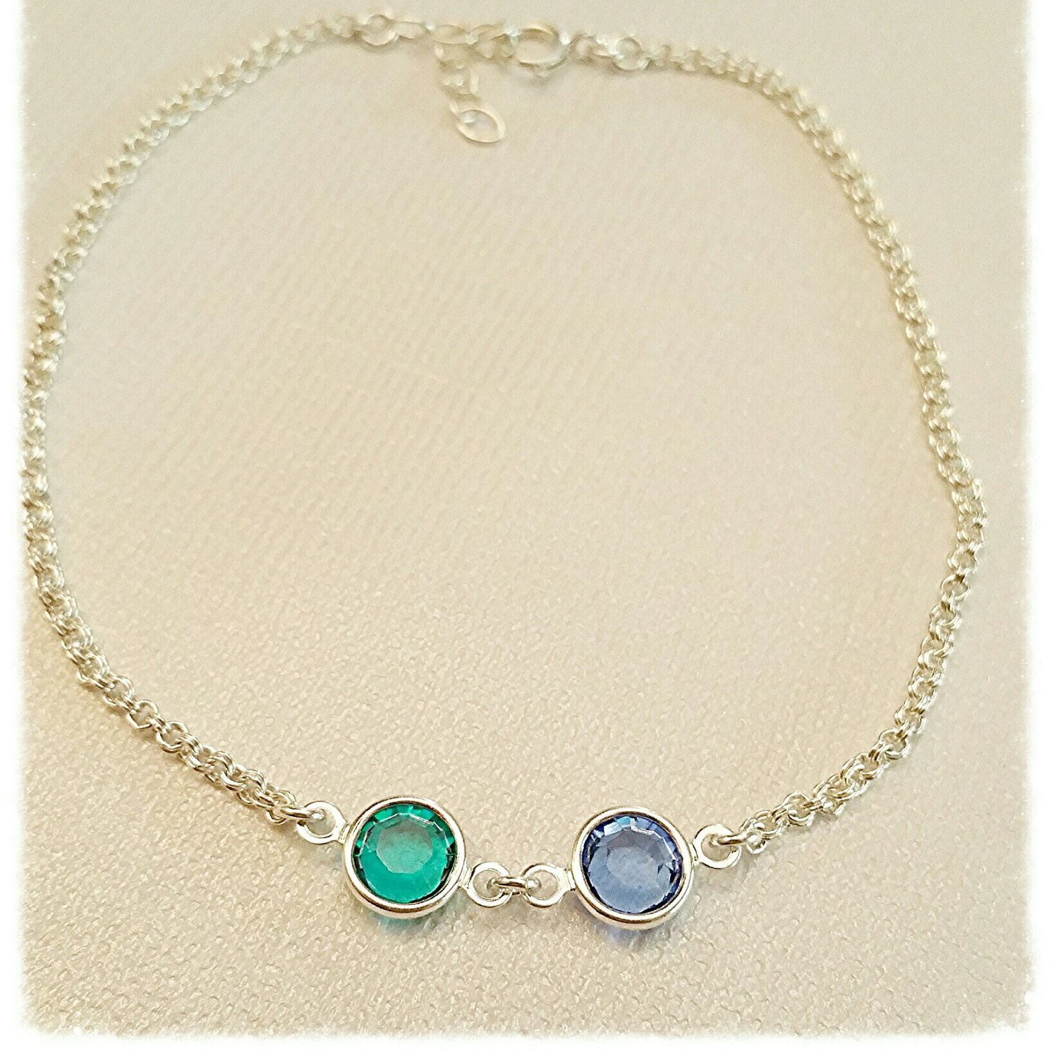 beach sterling silver crystals anklet body gemstone p march fullxfull jewelry il summer water aquamarine birthstone
