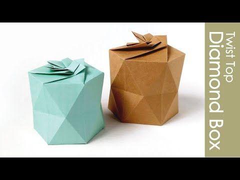 Photo of Origami Box -twist Top Diamant- Origami Diamond Box