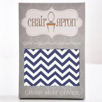 Indigo Chevron Chair Seat Cover