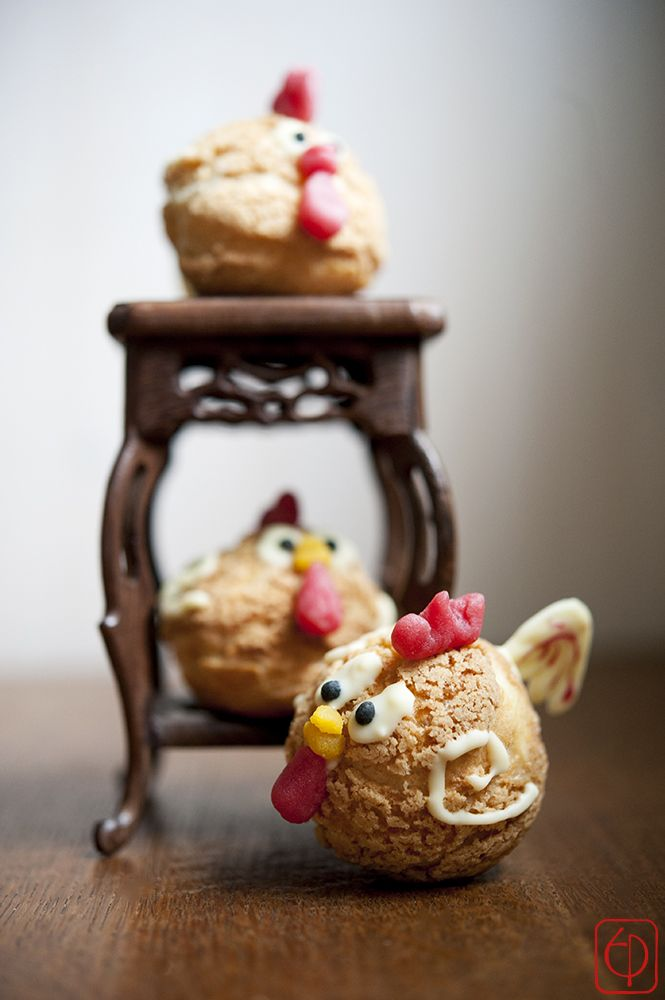 Rooster choux buns for the Chinese New Year 2017 @PerenaisePagariäri
