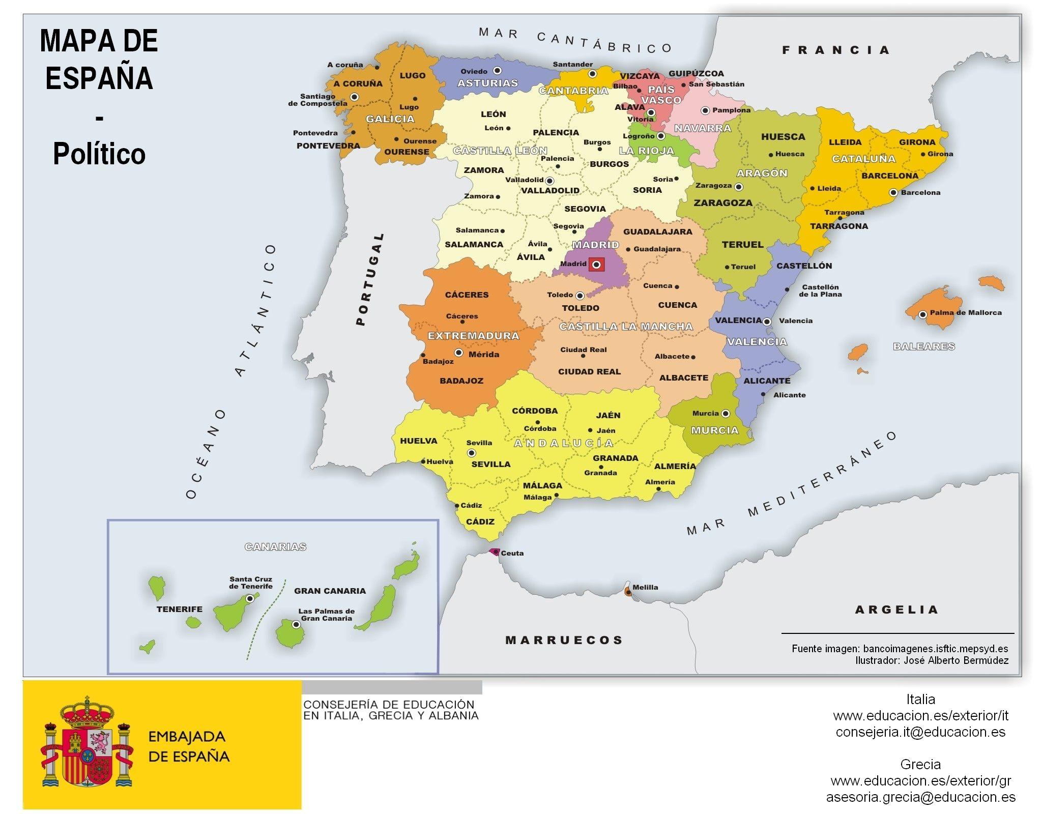 Mapa Flash Provincias España.Mapa De Espana Por Comunidades Y Provincias Infografia