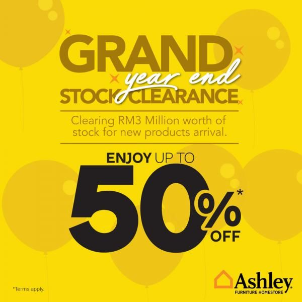 10-31 Oct 2019: Ashley Furniture Clearance Sale