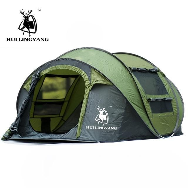 Huilingyang Tents Outdoor 3 4 People Automatic Speed