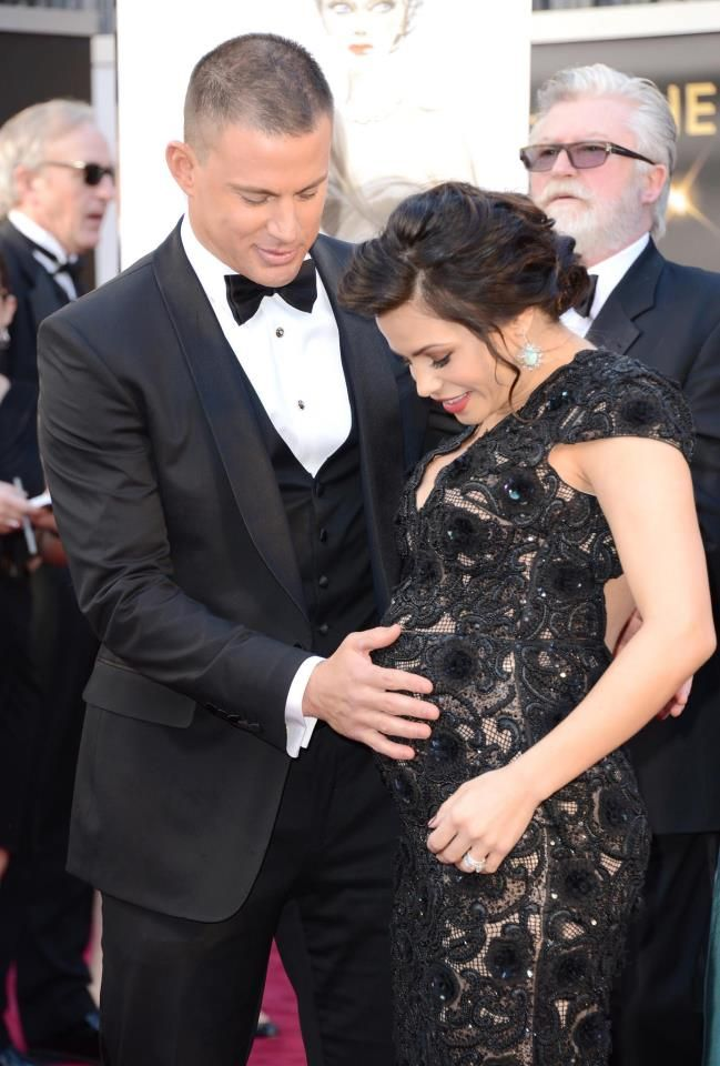 Channing and Jenna Tatum. Seriously like the cutest celeb couple ever!!!