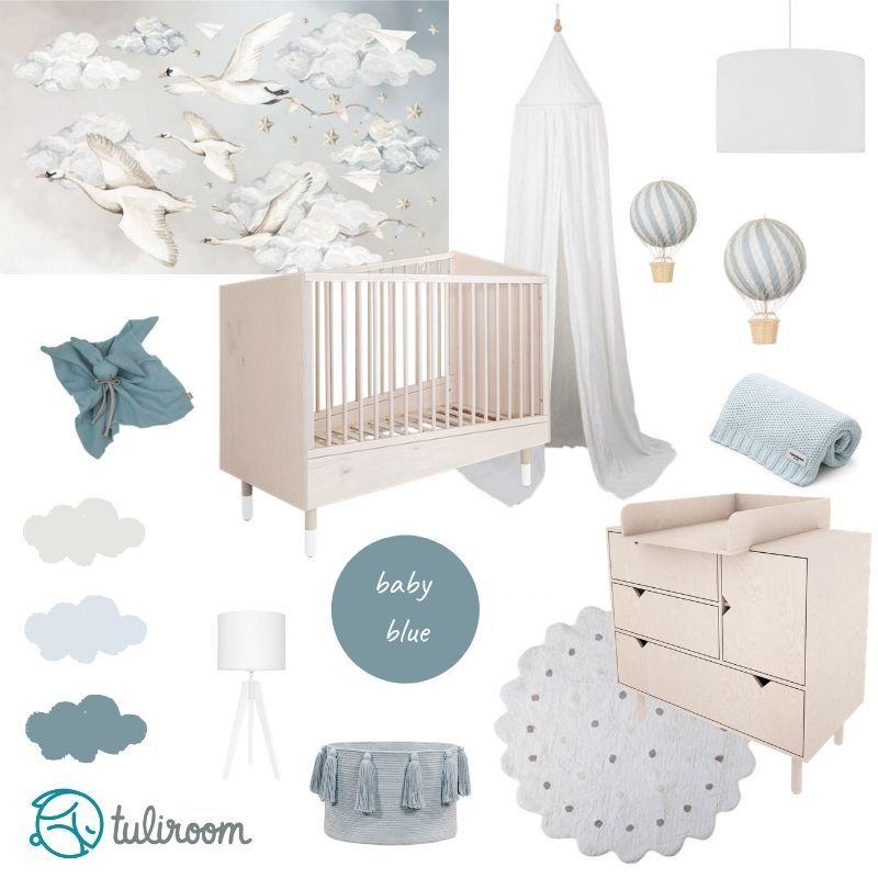 Pokoj Dla Niemowlaka Baby Blue Inspiracje Home Decor Toddler Bed Decor