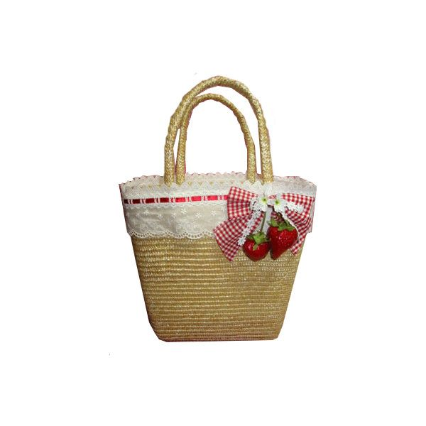 Strawberry Basket Bag: Angelic Pretty ❤ liked on Polyvore featuring bags and lolita