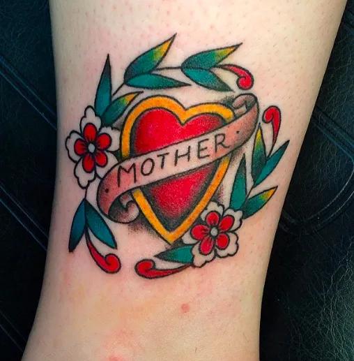 P Mom And Dad Heart Tattoo P Mom Heart Tattoo Dad Tattoos Mum Tattoo