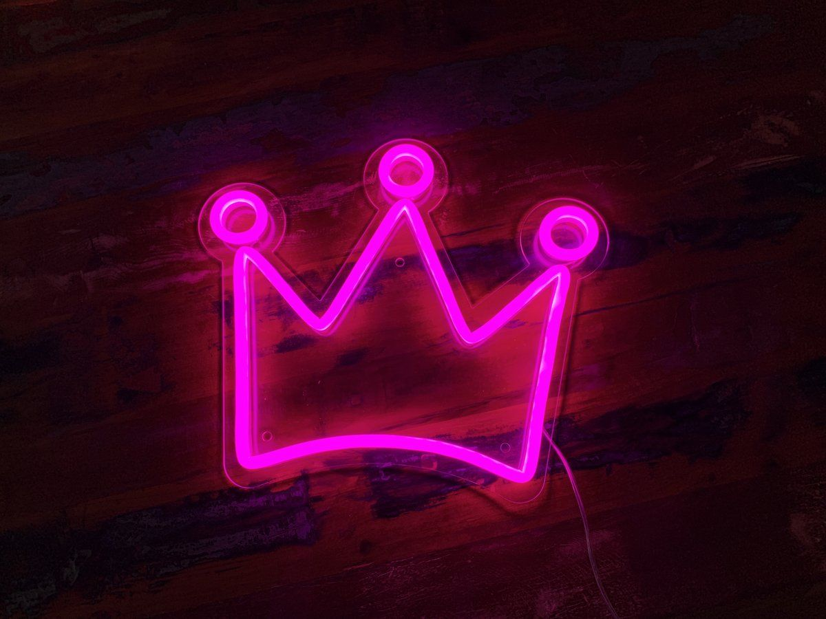 Crown Led Neon Sign Neon Signs Pink Neon Sign Neon Aesthetic