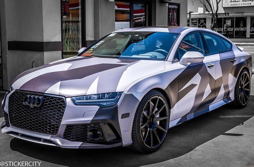 Camo Audi Rs7 Wrapped By Stickercity Check Out Stickercity And