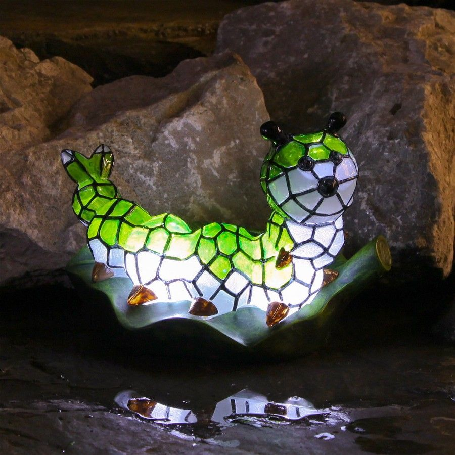 LED Solar Caterpillar Garden Ornament Festive Lights LTD cool