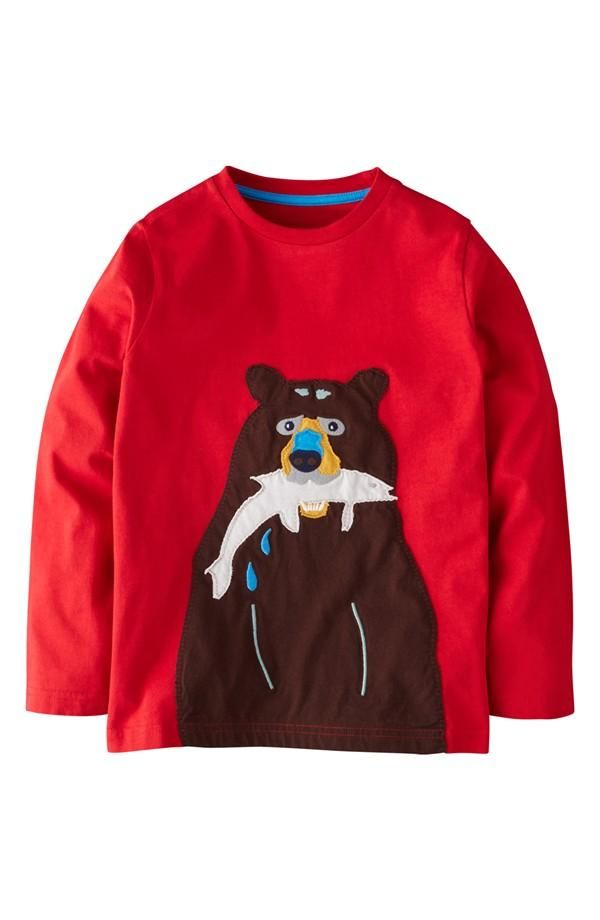 Cute little guy! Mini Boden Bear Shirt for boys. | Kids ...