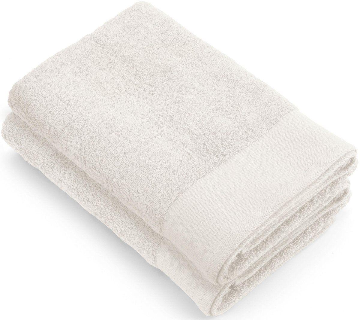 Duschtucher Soft Cotton Mit Gewebter Bordure 2 Tlg Weben