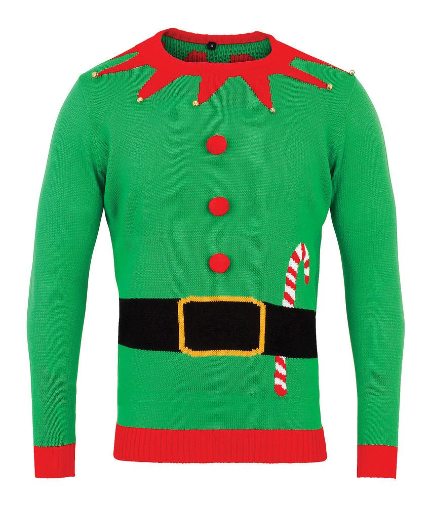 Green Elf 3D Christmas Jumper Mens Womes Sweater 3d