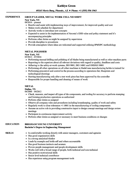 Welder Fabricator Resume Sample Best Of Metal Resume Samples Resume Skills Job Resume Examples Resume Examples