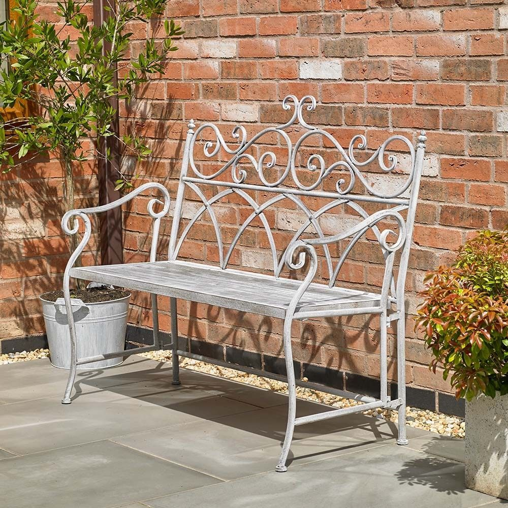 Grey Garden Bench Vintage Style Cast Iron Bench Cast Iron