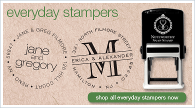Everyday Collection Of Self Inking Stamps After A Friend Give Gift With Her Stamp