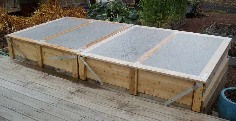 cold frame gardening with wood floor plans httplovelybuildingcom