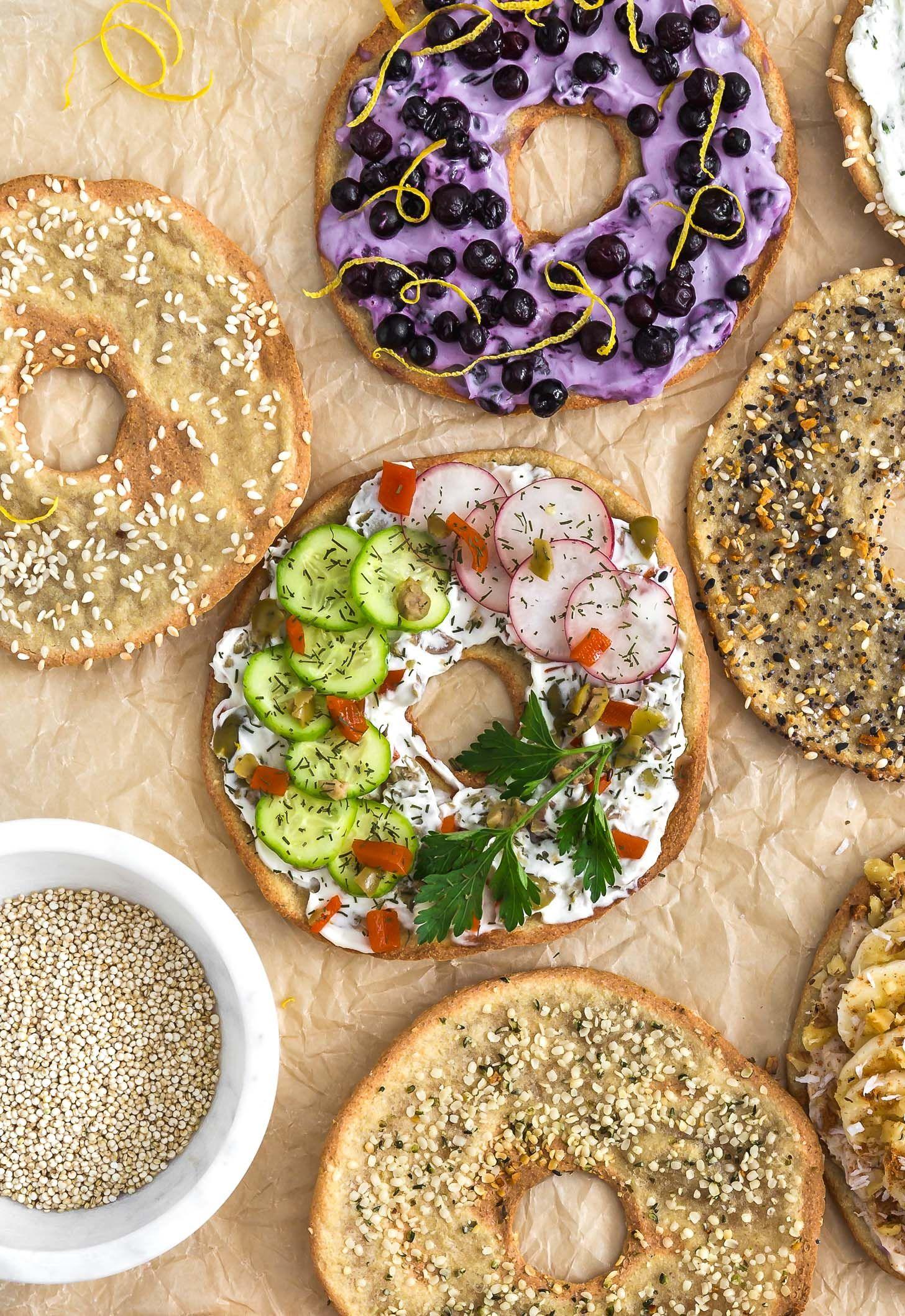 Quinoa Flatbread Bagels Recipe Food, Clean eating
