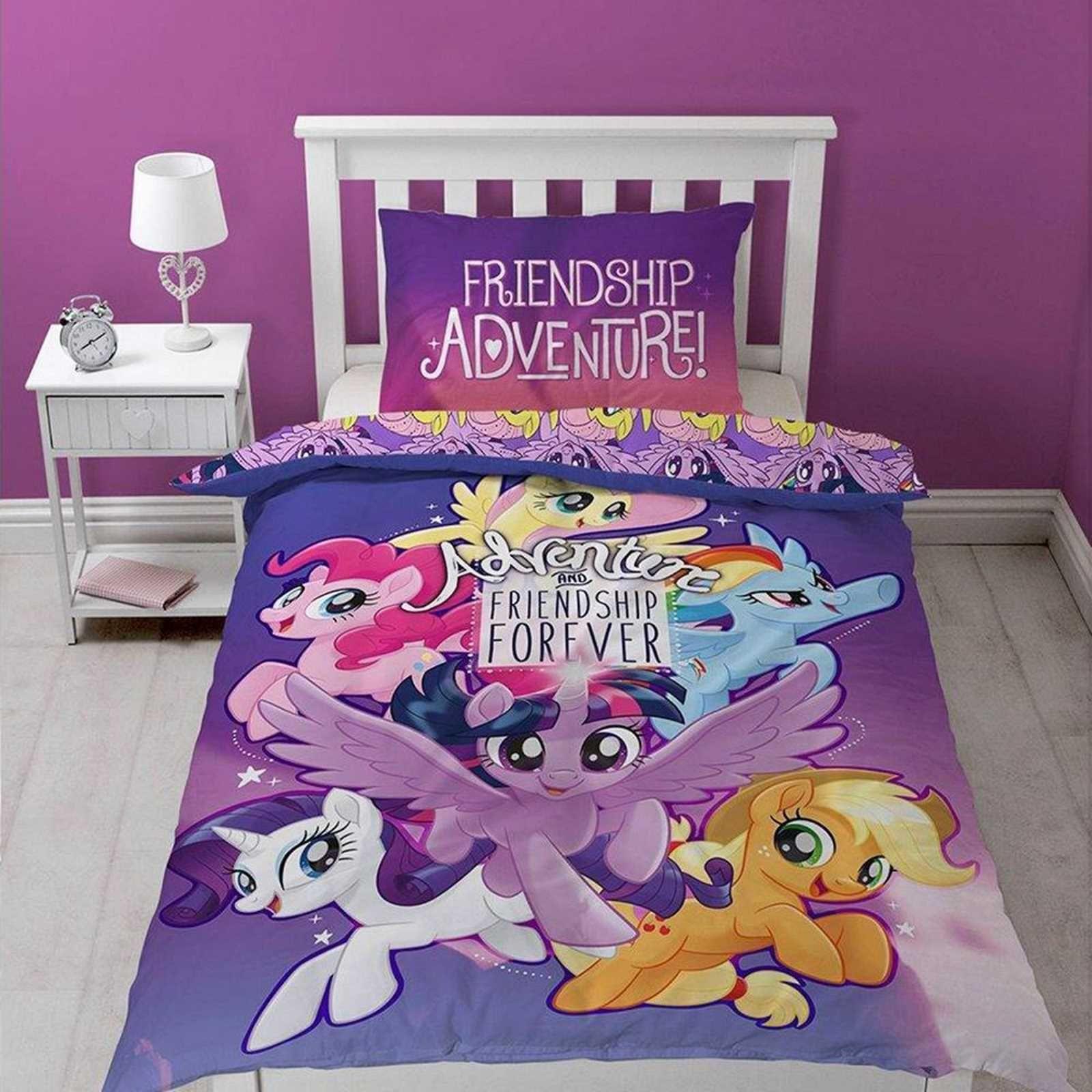 my little pony adventure movie single panel duvet cover set rh pinterest com