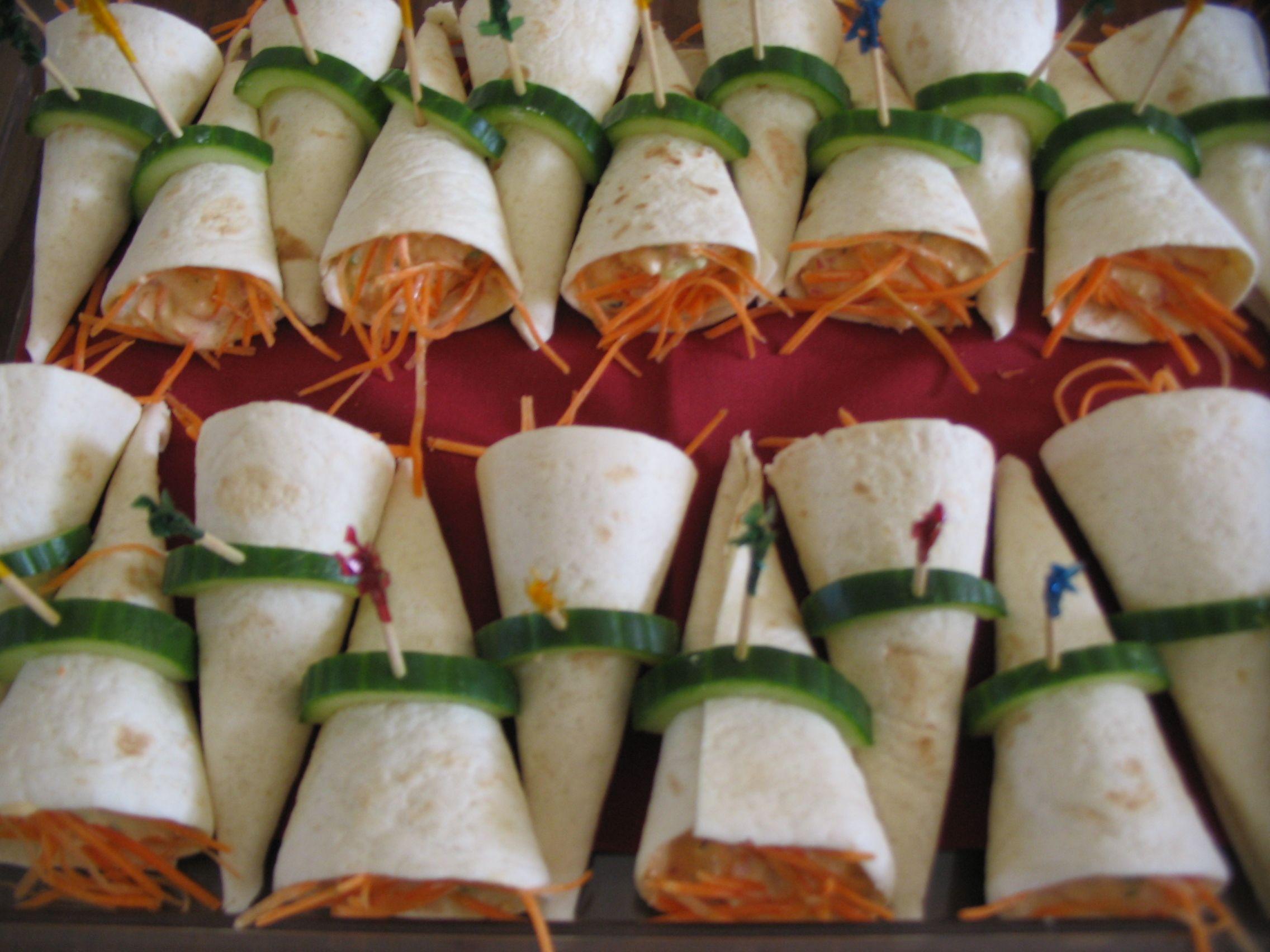 Tortilla Salmon Salad Roll