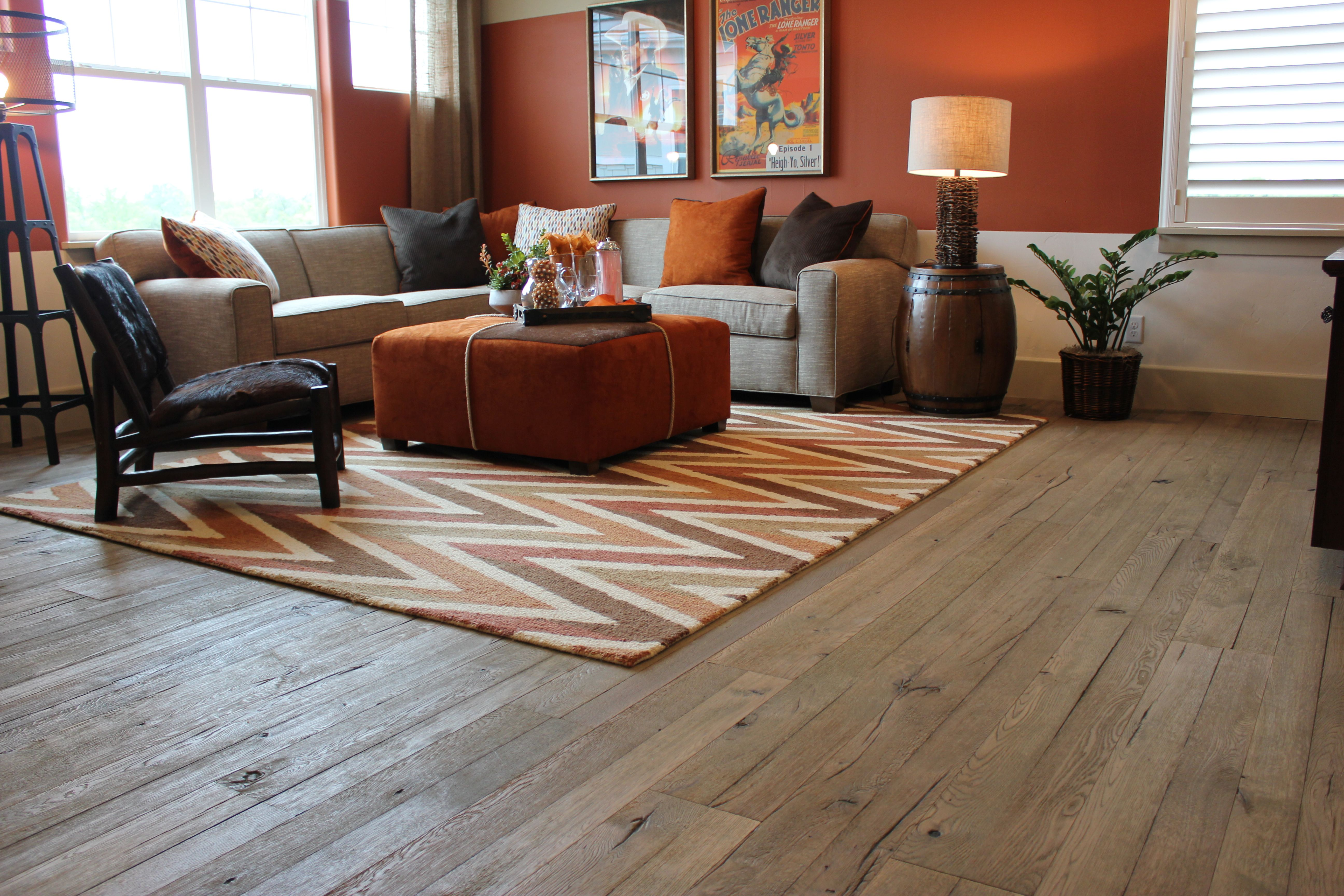 Duchateau Hardwood Flooring And Area Rug Installed At Tim Lewis