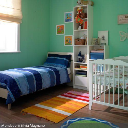 Kinderzimmer mit Wandfarbe Türkis Kinder zimmer