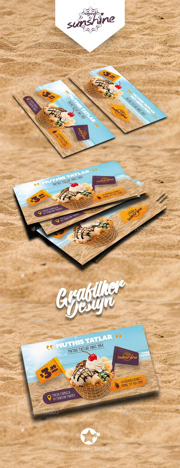 Ice Cream Business Card Templates Ice Cream Business Business Cards Business Card Template Design