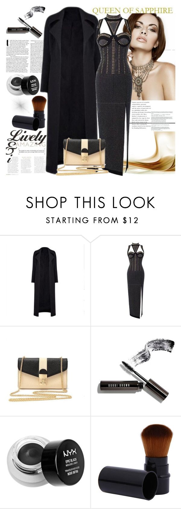 """QUEEN OF SAPPHIRE"" by gaby-mil ❤ liked on Polyvore featuring Bobbi Brown Cosmetics, NYX and queenofsapphire"