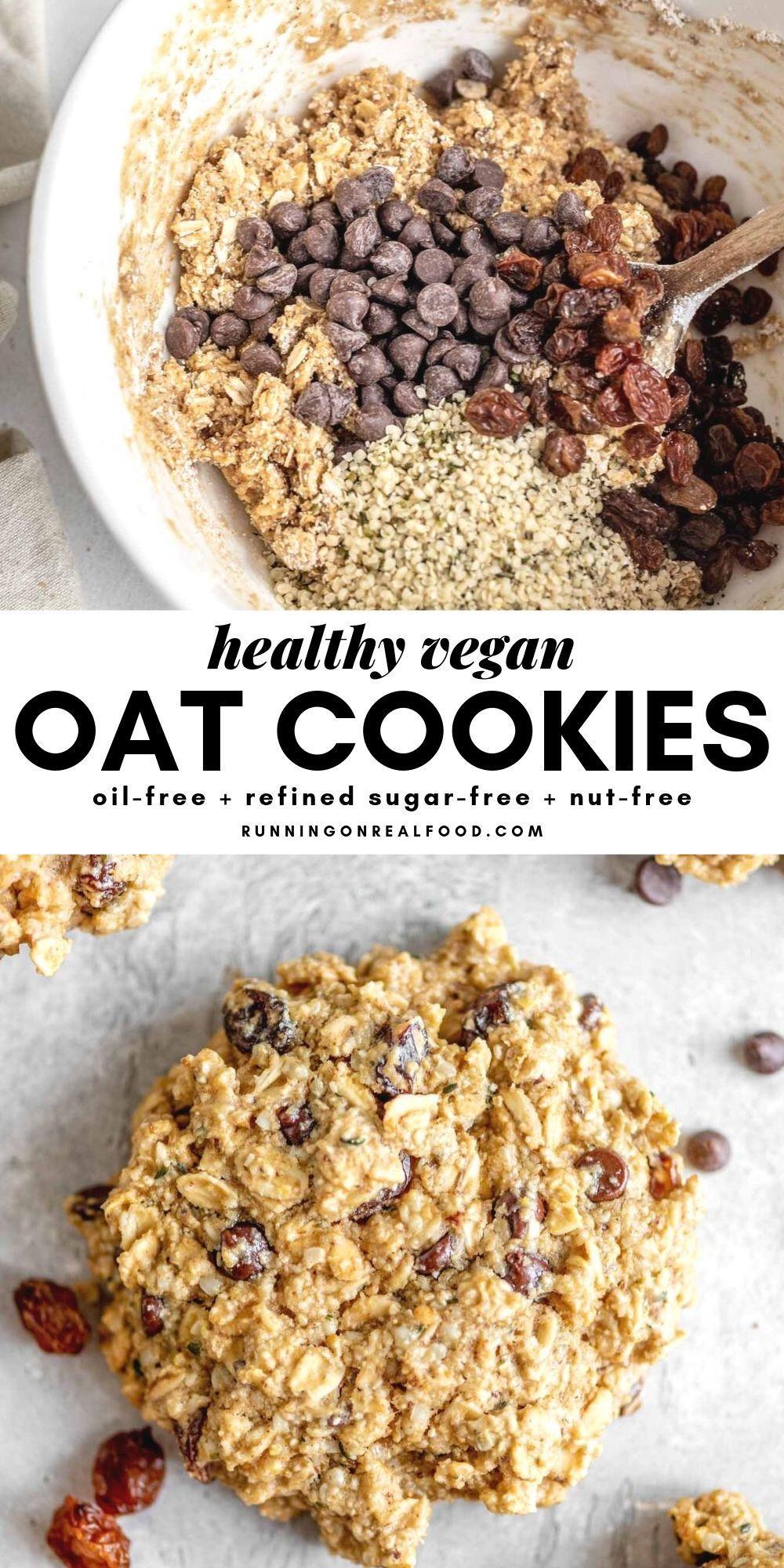 Healthy Oat Cookies Recipe Vegan Oat Cookies Vegan Oatmeal Cookies Healthy Oat Cookies