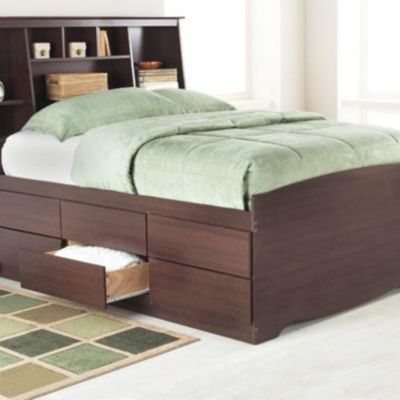 sonoma platform bed with storage tall height sears sears - Sears Bedroom Decor