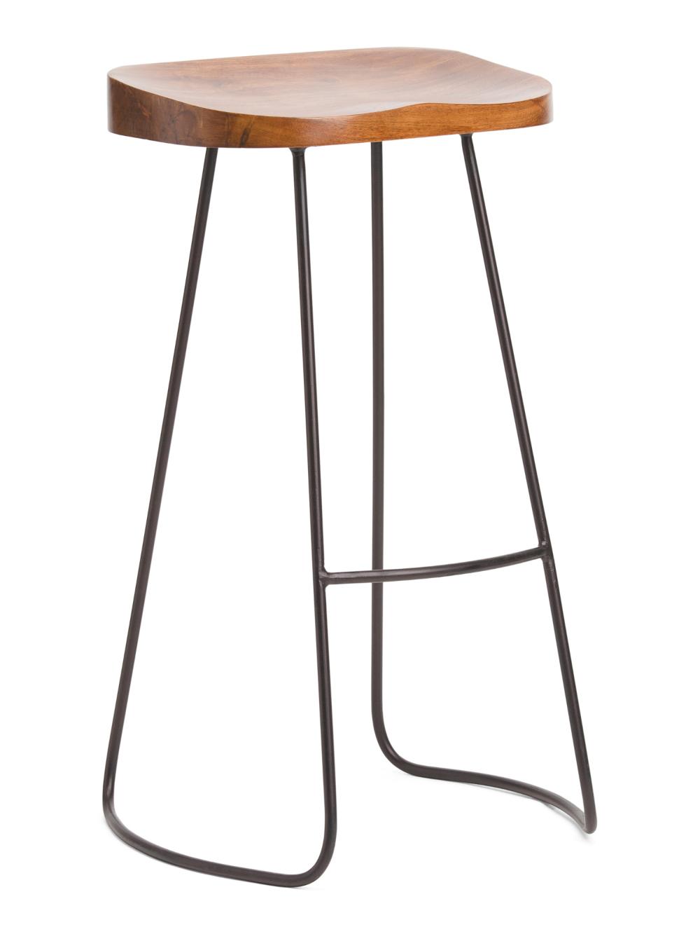 Mango Wood Boston Barstool Accent Furniture T J Maxx Wood Bar Stools Mango Wood Bar Stools