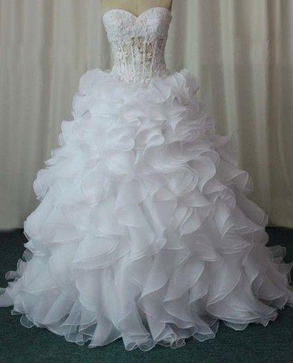 Robe de mariee magnifique bustier plume