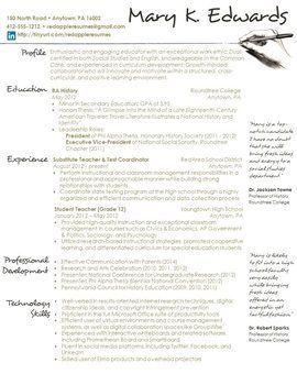 Activities resume for college format