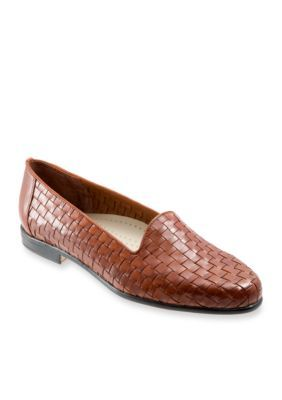 dd1ea462a6 Trotters Women s Liz Woven Loafer - Brown - 6 Wide Comfortable Shoes