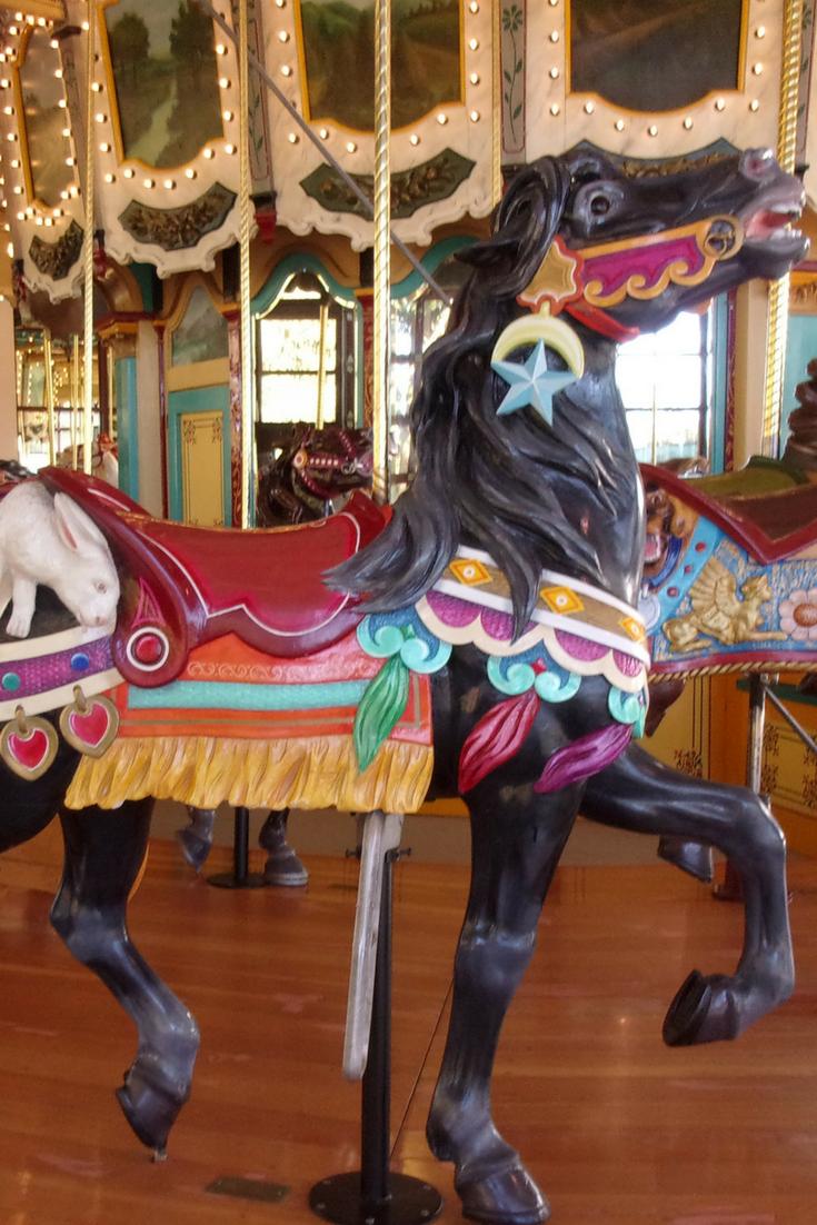 Woodland Park Zoo Black Horse Carousel. Philip Toboggan Company