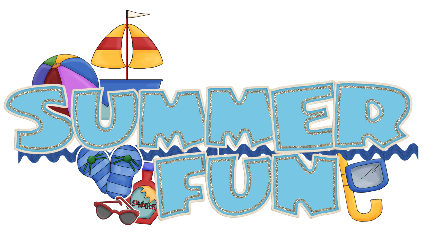 Summer Vacation Clip Art | Images of summer, Summer clipart, Art ...