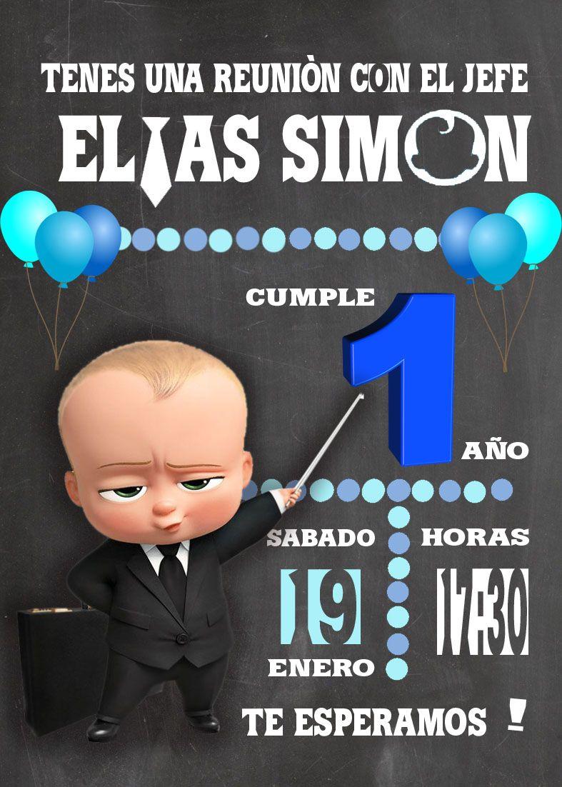 The Boss Baby Invitacion Cumpleaños Del Jefe Cumpleaños