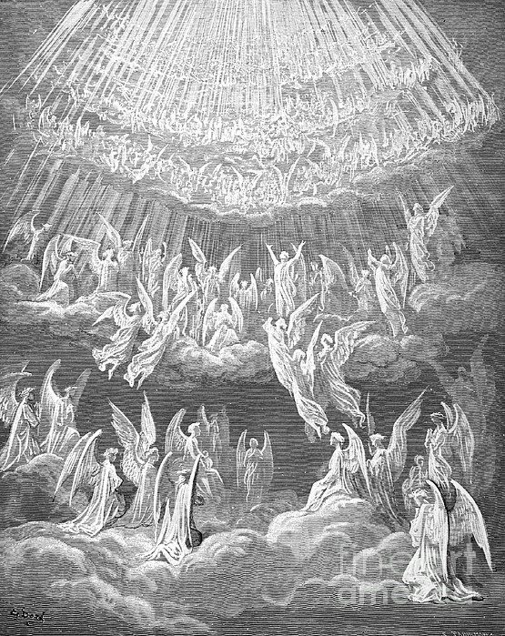 Dante Paradise The Heavenly Choir Wood Engraving After