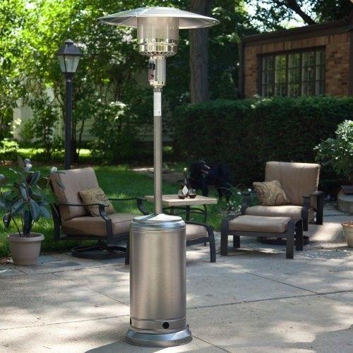 Garden, Attractive And Useful New Chrome Garden Sun Outdoor Propane Patio  Heater For Modern Outdoor