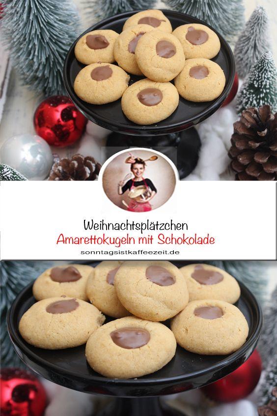 Amarettokugeln mit Schokolade – Weihnachtsplätzchen Rezept