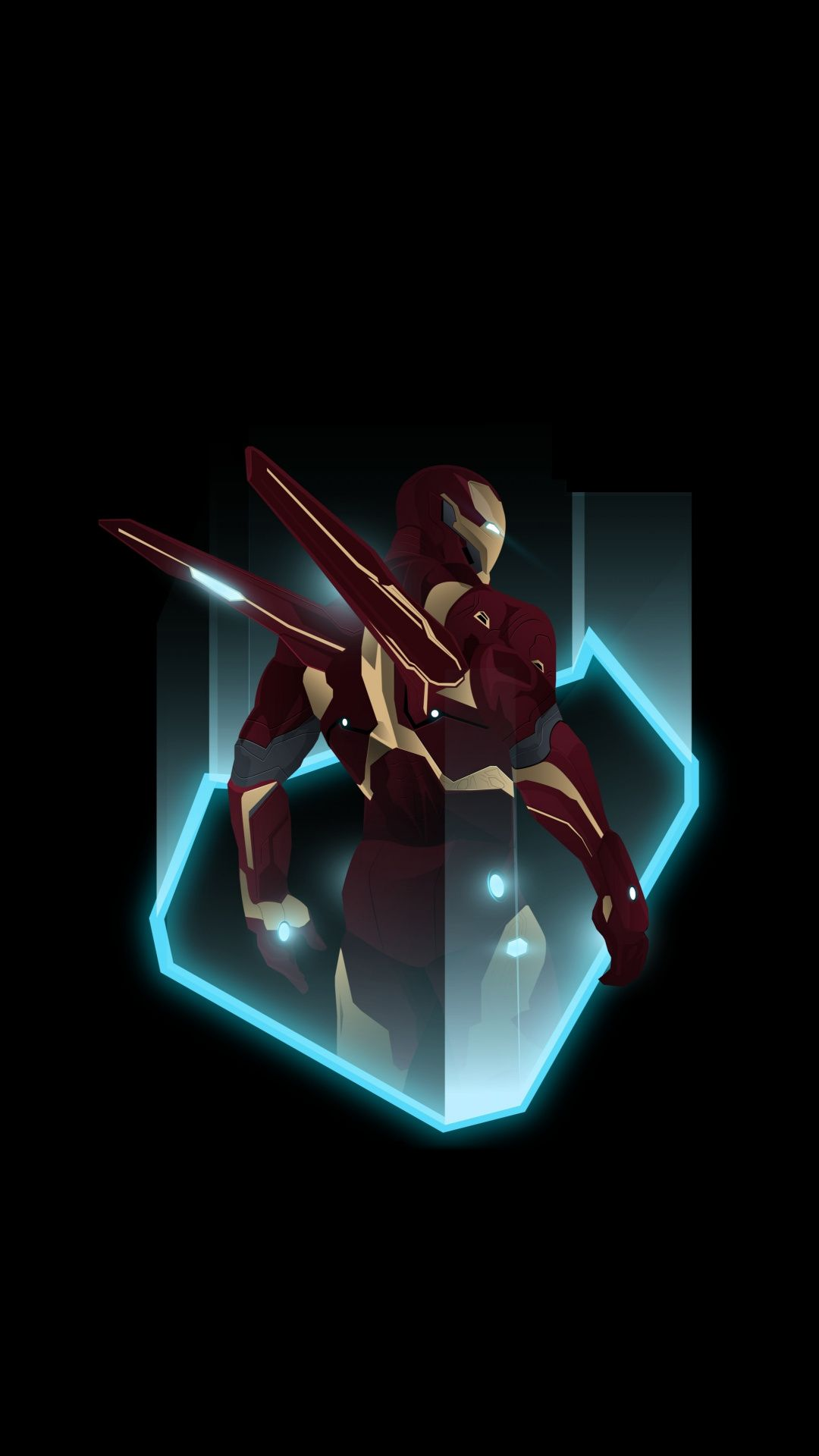 Ironman, superhero, ironsuit, artwork, 1080x1920