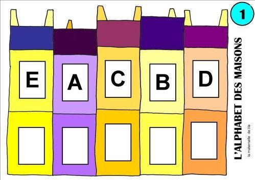 Un nouveau jeu l 39 alphabet des maisons pour associer - Lettres alphabet maternelle ...
