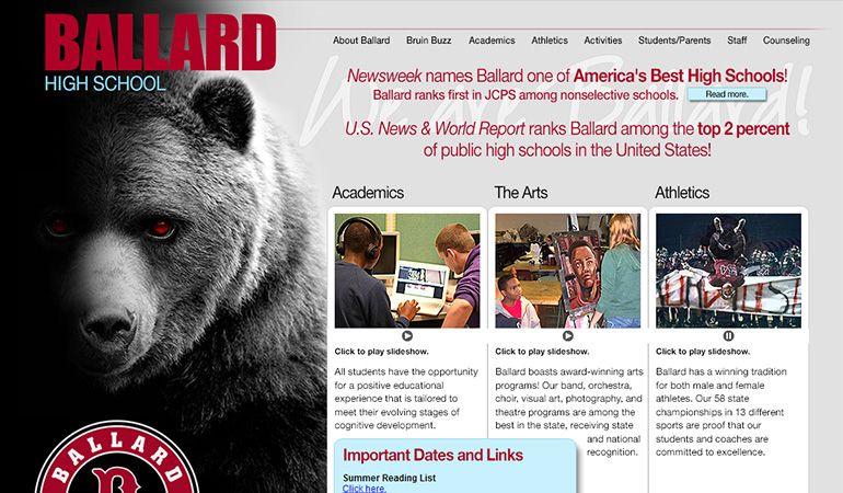 Ballard High School   Condor Feed   Showcase design, School